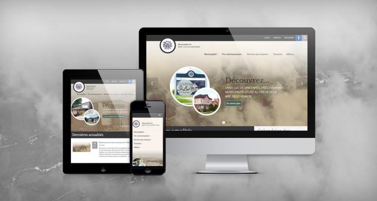 Site Web Municipalité de Saint-Luc-de-Vincennes