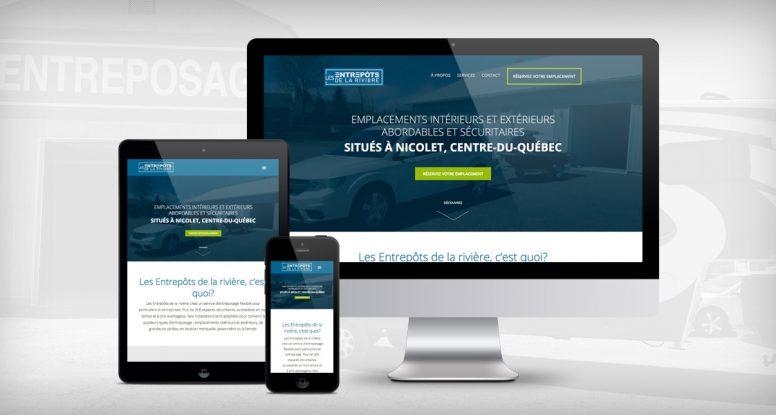 Site Web Les Entrepôts de la rivière