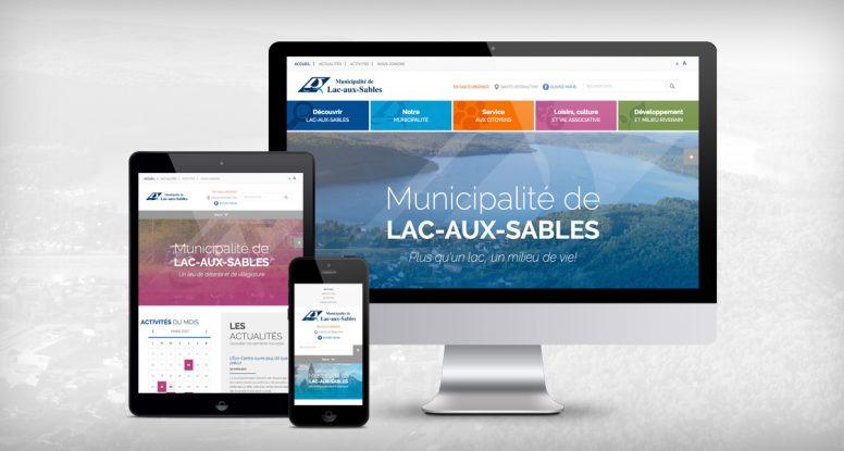 Site Web Municipalité de Lac-aux-Sables