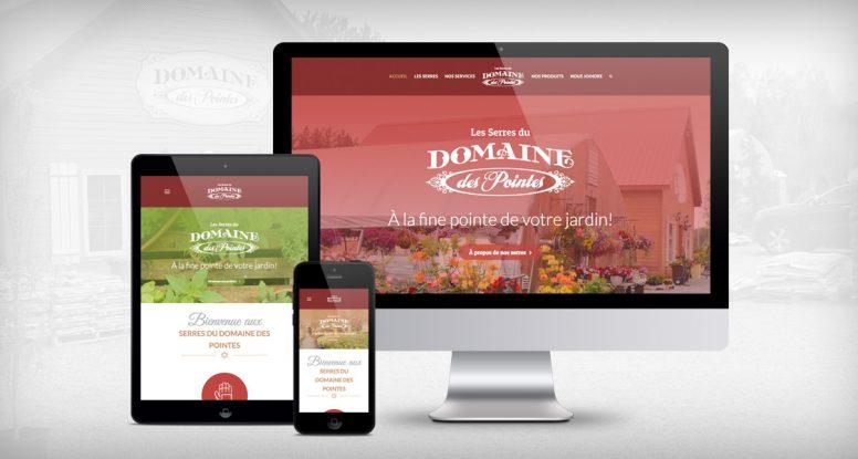 Les Serres du Domaine des Pointes - Site Web - Différentes plateformes